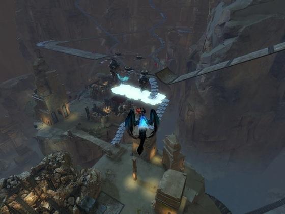 Sprung über Charr Kopter