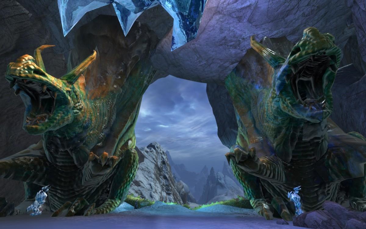 gefrorene Drachen am Lornars Pass ^^