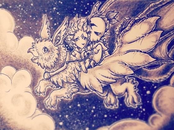 Flug und Sterne