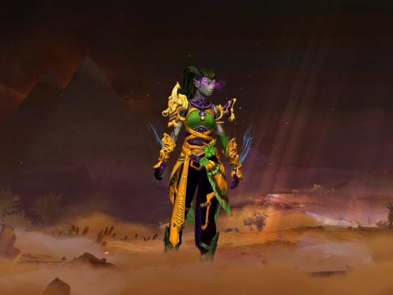 Glühende violette Maske
