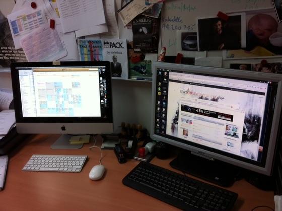 Mein Schreibtisch im Büro
