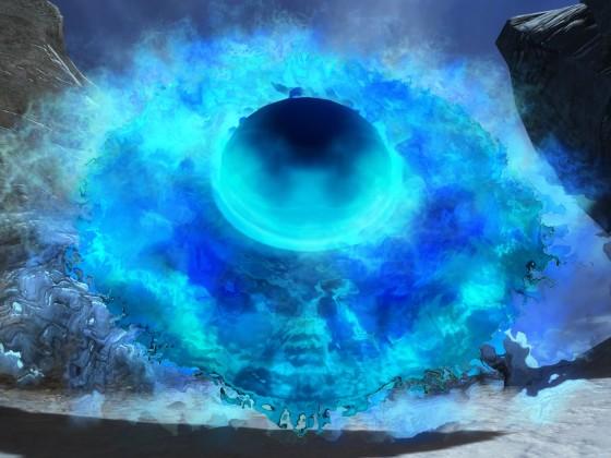 Blaues UFO im Lornar-Pass gesichtet  ;-)