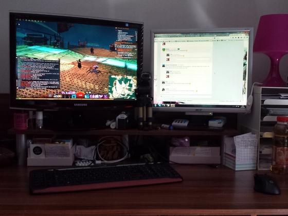 Schreibtisch von Andrea.... öhm vielseitig?!