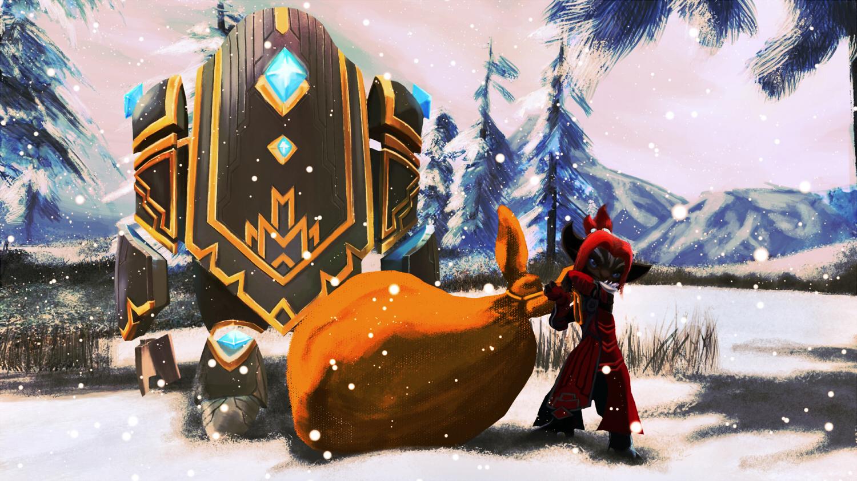 Inquestur-Asura Lukka mit den Adventsgeschenken