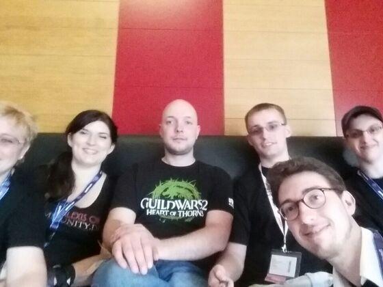 Gruppenfoto mit Ramon Domke