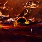 Im Auge des Vulkans *Draconis Mons*